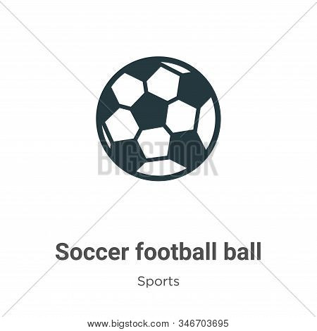 Soccer football ball icon isolated on white background from sports collection. Soccer football ball