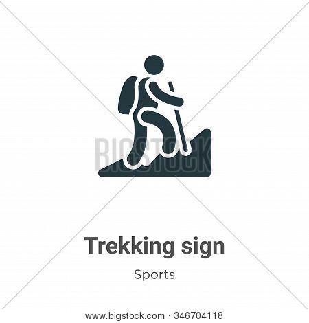 Trekking sign icon isolated on white background from sports collection. Trekking sign icon trendy an