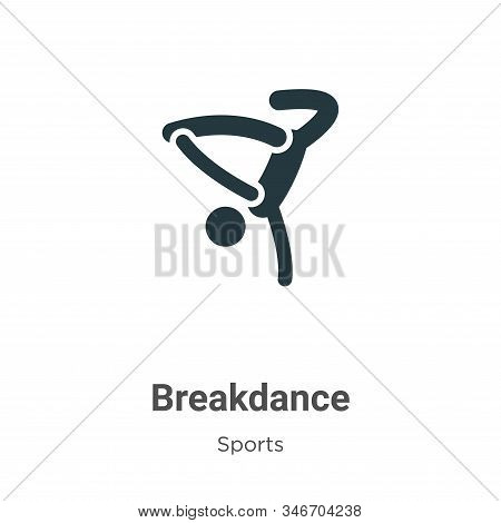 Breakdance icon isolated on white background from sports collection. Breakdance icon trendy and mode