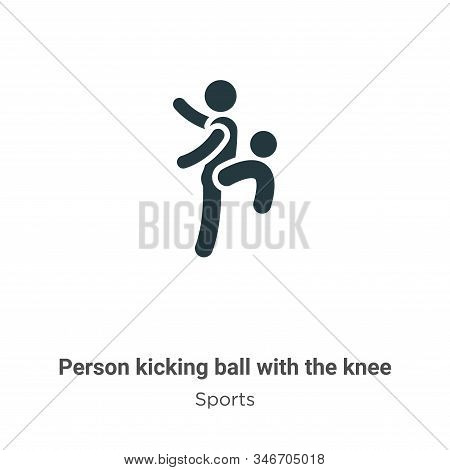 Person kicking ball with the knee icon isolated on white background from sports collection. Person k
