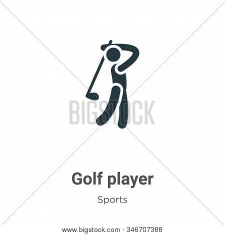 Golf player icon isolated on white background from sports collection. Golf player icon trendy and mo
