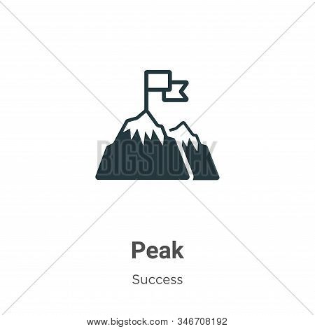 Peak icon isolated on white background from success collection. Peak icon trendy and modern Peak sym