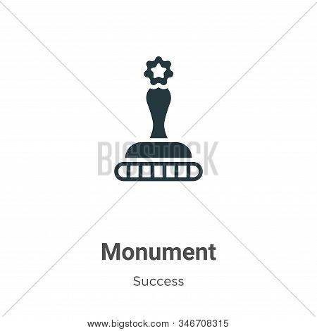 Monument icon isolated on white background from success collection. Monument icon trendy and modern