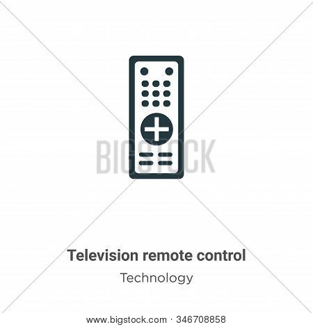 Television remote control icon isolated on white background from technology collection. Television r