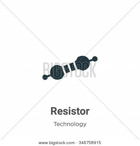 Resistor icon isolated on white background from technology collection. Resistor icon trendy and mode