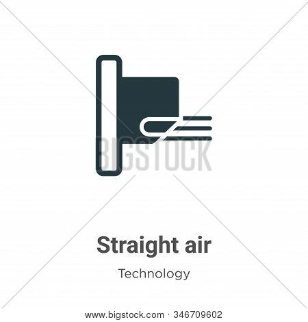 Straight air icon isolated on white background from technology collection. Straight air icon trendy