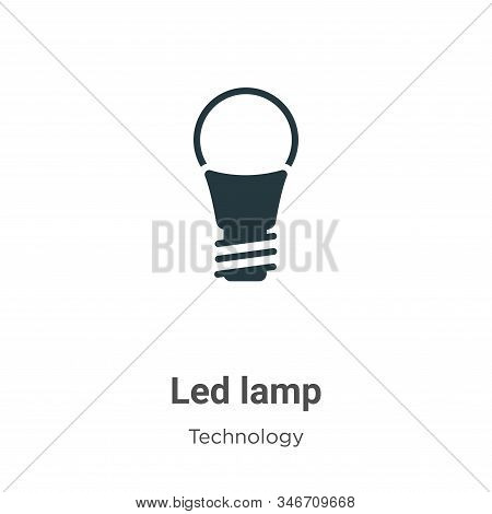 Led lamp icon isolated on white background from technology collection. Led lamp icon trendy and mode