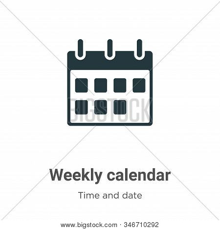 Weekly calendar icon isolated on white background from time and date collection. Weekly calendar ico