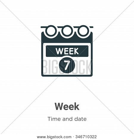 Week icon isolated on white background from time and date collection. Week icon trendy and modern We