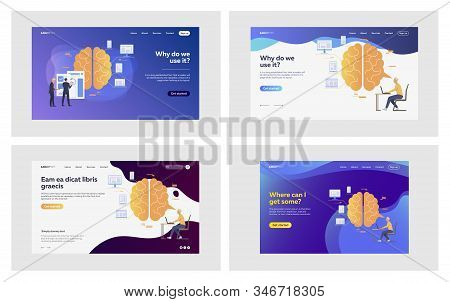 New Idea Set. Businesspeople Writing And Analyzing Plan For Startup. Flat Vector Illustrations. Effi
