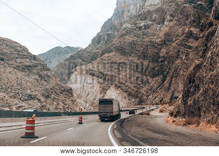 Great Basin Hwy Road To Hoover Dam, Nevada, Usa - December, 2019