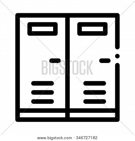 Locker Rooms Icon Vector. Outline Locker Rooms Sign. Isolated Contour Symbol Illustration