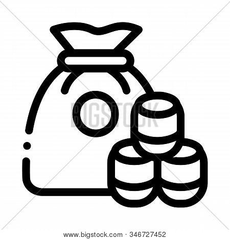 Lotto Icon Vector. Outline Lotto Sign. Isolated Contour Symbol Illustration