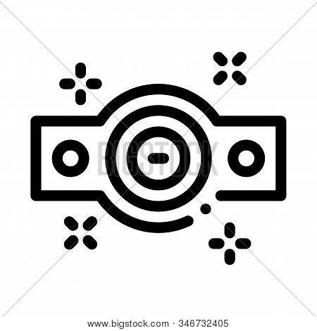 Championship Belt Icon Vector. Outline Championship Belt Sign. Isolated Contour Symbol Illustration