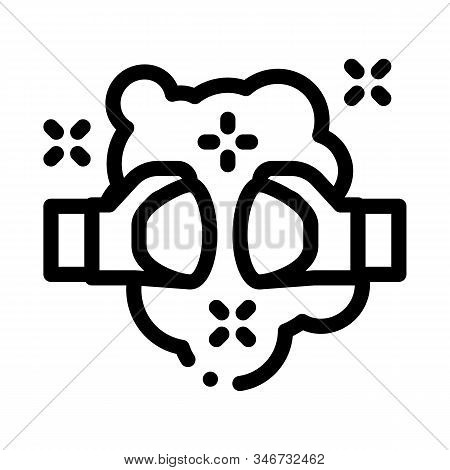 Fist Punch Fight Icon Vector. Outline Fist Punch Fight Sign. Isolated Contour Symbol Illustration