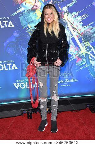 LOS ANGELES - JAN 21:  Tara Reid arrives for the Cirque du Soleil's VOLTA Los Angeles Premier on January 21, 2020 in Los Angeles, CA