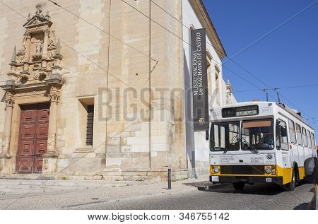 Coimbra, Portugal - Sept 6th 2019: Coimbra Trolleybus System, The Only Such System In Portugal