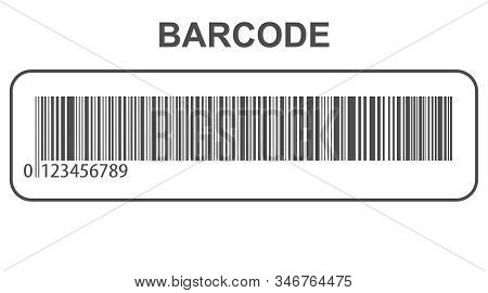 Barcode. Realistic Barcode Isolated On White Background. Vector Illustration Of Barcode.