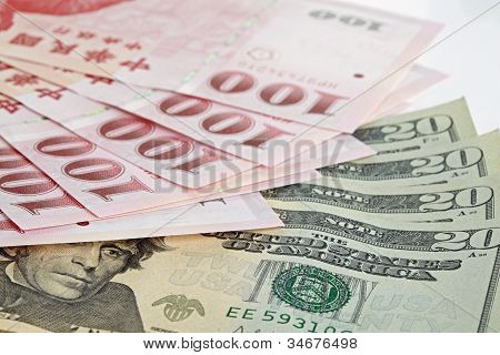 Six Piece Of One Hundred Dollar Of  New Taiwan Dollar Cash And