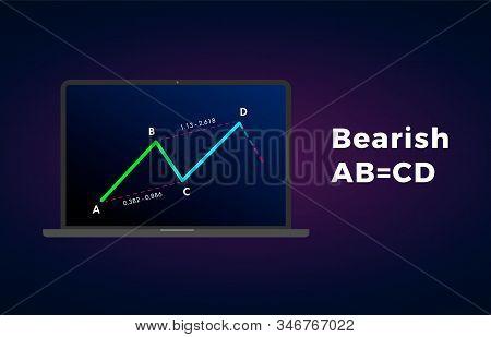 Bearish Abcd - Harmonic Patterns With Bearish Formation Price Figure, Chart Technical Analysis. Vect