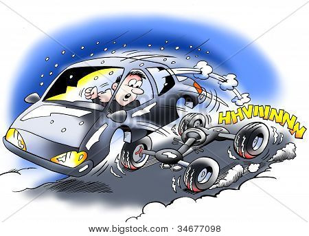 A Car With Defective Brakes