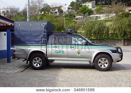 Albufeira, Portugal - December 26, 2019: Portuguese Emergency Intervention Car.