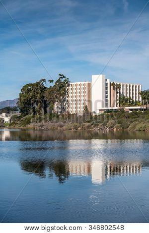 Goleta, Ca, Usa - January 2, 2020: Ucsb, University California Santa Barbara. San Nicolas Residentia