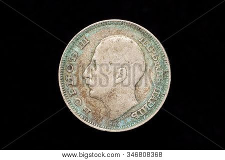Old Dirty Bulgarian Silver 100 Leva Coin From 1930, Obverse Showing Boris Iii. Tsar Of The Bulgarian
