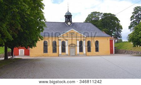 Copenhagen, Denmark - Jul 06th, 2015: The Kastelskirken, The Church At The Kastellet, The Citadel Of