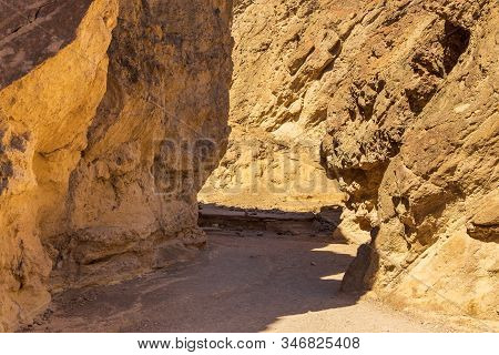 Entrance To The Golden Canyon Trailhead. Death Valley National Park, California, Usa.