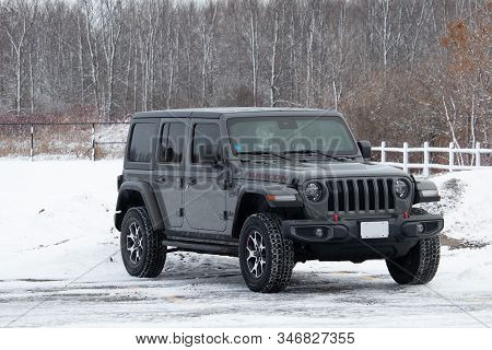December 16, 2019 - Ottawa, Ontario, Canada: A Late Model Jeep Wrangler Jl Unlimited Rubicon Off-roa