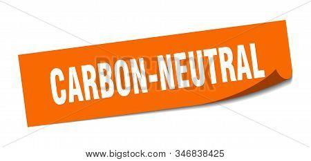 Carbon-neutral Sticker. Carbon-neutral Square Sign. Carbon-neutral. Peeler