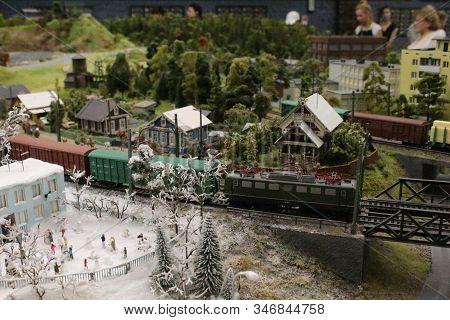 Miniature Train Station On A Miniature Train