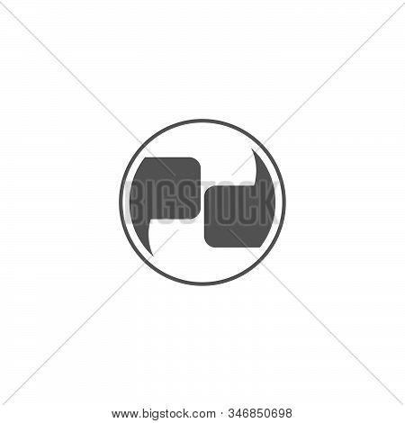 Letter Pd Talk Communication Geometric Design Symbol Logo Vector