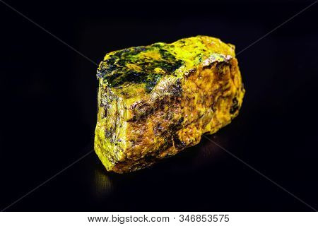 Uranium, a chemical element with a U symbol and an atomic mass equal to 238 u, has an atomic number 92 poster