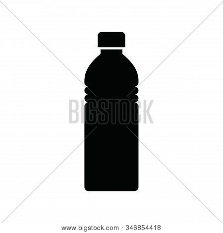 Water Bottle Icon. Thin Linear Water Bottle Icon Isolated On White Background From Hockey Collection