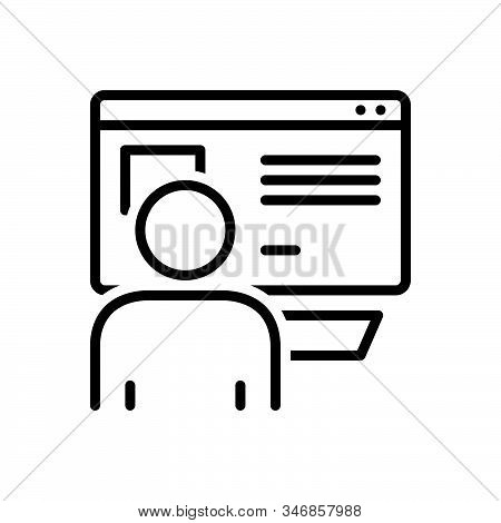 Black Line Icon For Netizen Mainstream Newspapers Magazines Liberally News