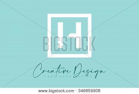 H Letter Icon Design With Creative Modern Look And Teal Background.  Vector Illustration.