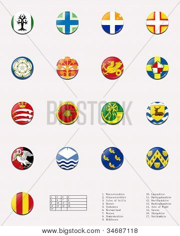 Regional and cities' flags ball of UK 1/2