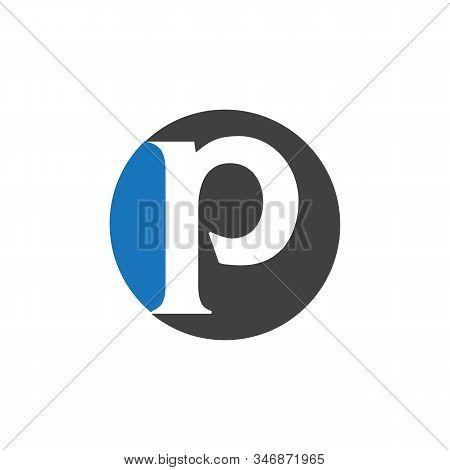 P Logo.letter .abstract P Design Vector Illustration Template Design