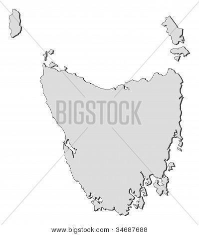 Map Of Tasmania (australia)