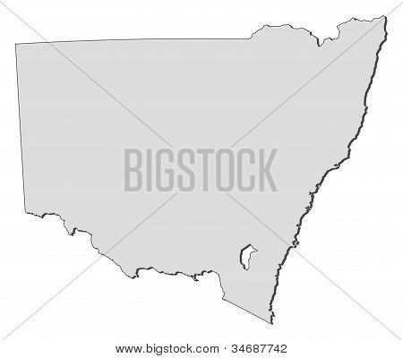 Karta i New South Wales (Australien)