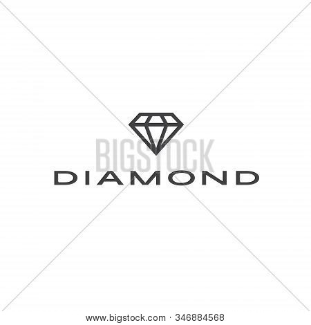 Diamond logo jewel jewelry boutique lux luxury gem gemstone crystal shape carat rich treasure expensive gift fashion sparkle royal wealth facet marriage engagement ring love romance poster