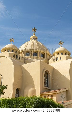 Coptic Orthodox Church In Sharm El Sheikh, Egypt. All Saints Church. Concept Of The Righteous Faith.
