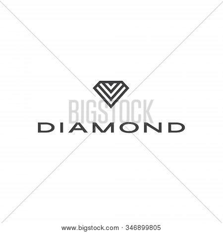 Diamond Logo Jewel Jewelry Boutique Lux Luxury Gem Gemstone Crystal Shape Carat Rich Treasure Expens