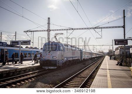 Brno, Czechia - November 6, 2019: Eurocity Ec 279 Metropolitan, Linking Prague To Budapest By Train,