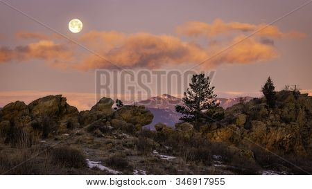 Fullmoon Over The Devils Backbone Loveland Colorado