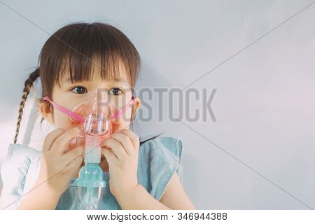 Child Who Got Sick By A Chest Infection After A Cold Or The Flu That Has Trouble Breathing And Prolo