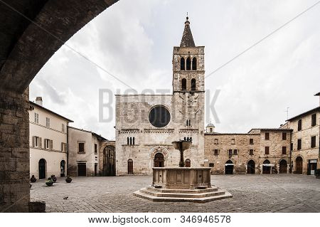 Buildings In The Small Viallge Of Montefalco, Umbria, Italy