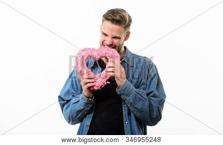 This Heart Is For You. Happy Man With Decorative Heart. Date. Love And Romance. Romantic Greeting. V